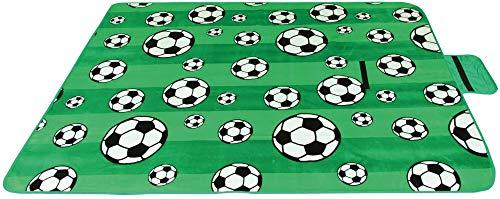 Picknickdecke wasserabw. mit Fotodruck, Auswahl: Größe - 170x130 cm Design - Fussball, Stranddecke Kofferraumunterlage Campingdecke