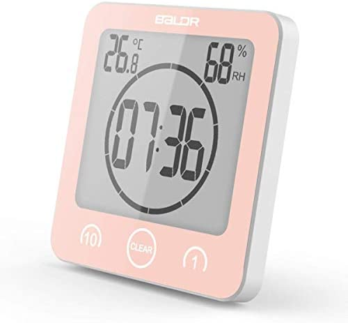 DollylaStore Horloge Murale thermomètre Support éjecteur Horloge Murale étanche 4,5 * 4,5 * 2in, Vert ( Color : Pink ) | Good Design