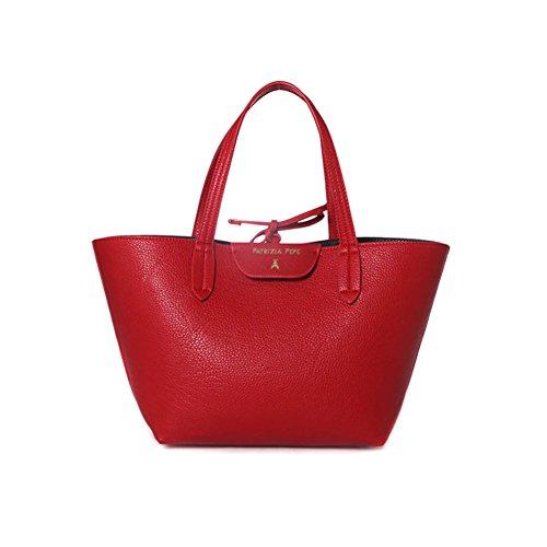 Patrizia Pepe borsa a mano media reversibile 2V5516 AV63 H278 rosso