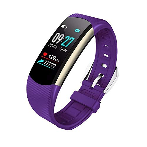 HEATLE Uhr ansehen Gute Qualität Praktisch Smartwatch Sport Fitness-aktivität Herzfrequenz-Tracker Blutdruckkalorien (1PC, Lila)