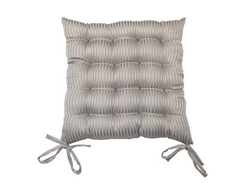 Cojín para silla capitoné 40x40x5 cm RAY gris, jacquard