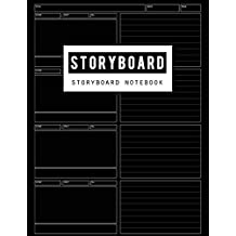 Storyboard Notebook: Film Storyboading Journal Drawing Sketching Pad 4 Panel, Visual Storytelling Notebook, Narration Lines, Standard for Storyboard Sketchbooks Diary, 100 Pages