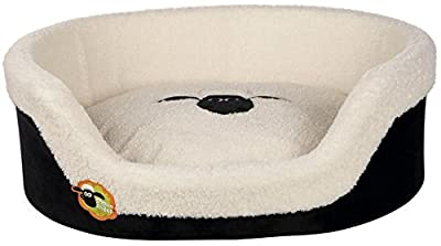 Trixie cama ovalada para la oveja Shaun, 55x 45cm, negro/crema