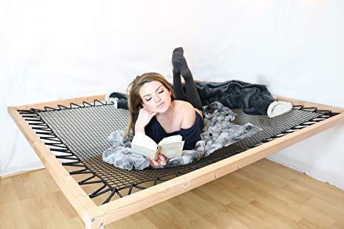 Wood Hood's Relax Liege für Zuhause - Die elastische Gartenliege/Sonnenliege aus Holz gleicht Einer Hängematte passt Sich Aber bequem dem Körper an - Handmade in Germany