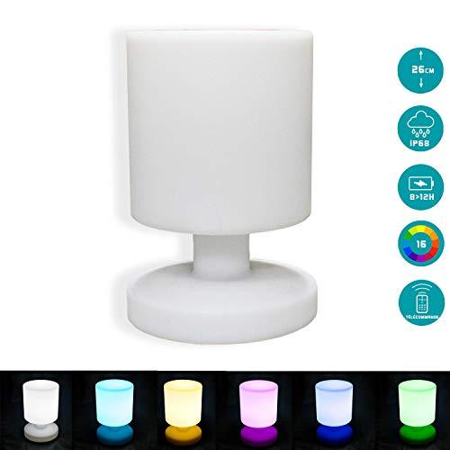 ⭐ Lampe Extérieur Multicolore à Led 26cm - Lampe Déco de Table Rechargeable avec Télécommande - Découvrez nos Cubes et Boules Led
