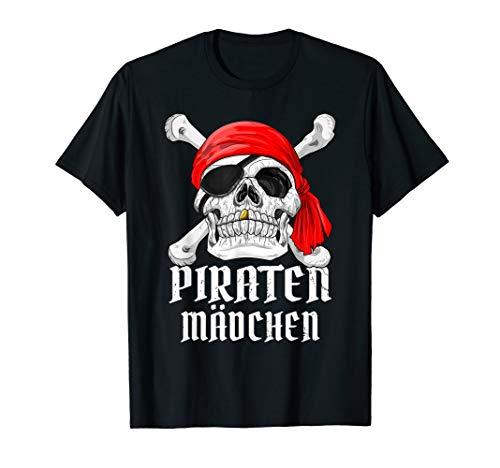 (Piraten Mädchen Kostüm Fastnacht Fasching Pirat T-Shirt Frau)