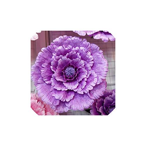 Archiba Wedding Decor 60 cm große Silk künstliche Blumen-Rosen-Hochzeit Hintergrund Dekoration Startseite Dekorative Blumen-Hochzeit Welcome Area-Layout, Lila 50 cm