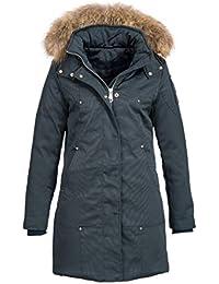 d06f45b0e50e Elara Damen Daunenjacke   Jacke mit Echt Fell Echt Pelz Kapuze   Echte  Daunen