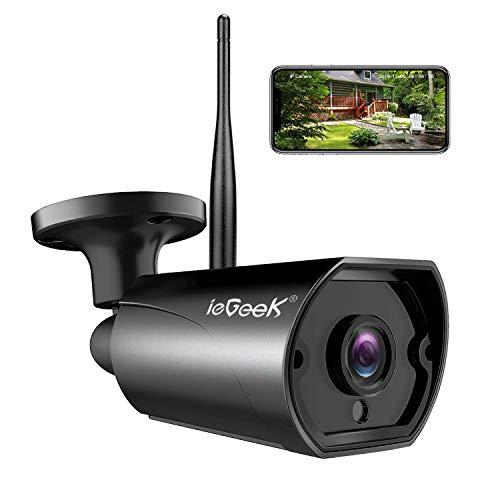 Caméra de Surveillance WiFi, ieGeek Caméra IP Extérieur HD 1080P, Caméra Sécurité étanche IP66...