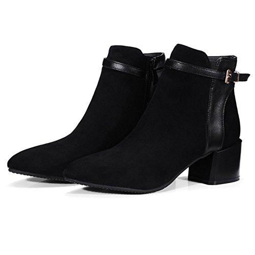 Zanpa Femmes Mode Bootie Chaussures Western Bottes Black