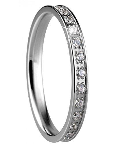 Bering Damen-Ring Edelstahl Zirkonia weiß Gr. 65 (20.7)-556-17-91