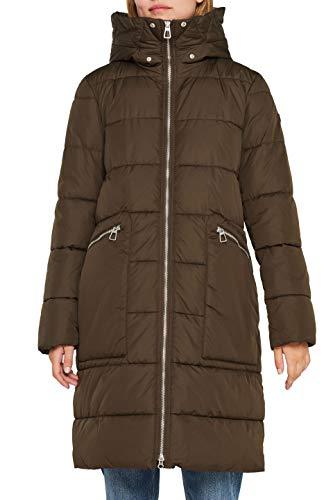 Edc by Esprit 109cc1g001 Abrigo, Verde Dark Khaki 355, Medium para Mujer