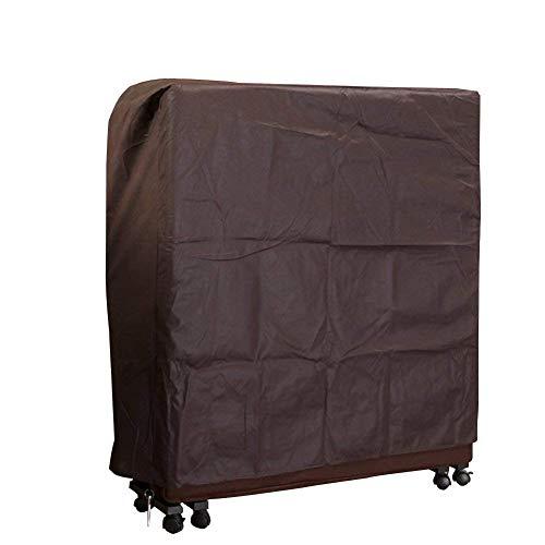 QEES, JJZ12 copertura antipolvere per letto pieghevole, in tessuto non tessuto spesso, per uso domestico e in ospedale, Coffee, 80*30*95 CM