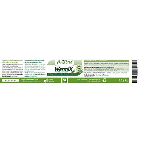 AniForte Wurm-Formel 20 g- Naturprodukt für Hühner, Gänse und Grossvögel - 3