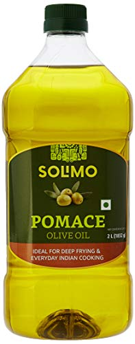 Amazon Brand - Solimo Pomace Olive Oil, 2L