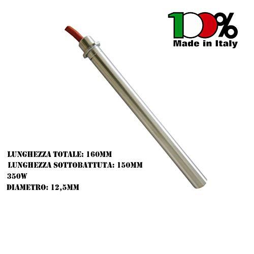 RESISTENZA ACCENSIONE STUFE A PELLET DIAMETRO 12,5MM 350W 160MM 14701021 - ADATTO FIGEVIDA