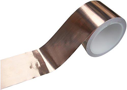 Preisvergleich Produktbild EMI Kupfer Folie Abschirm Klebe Band 50mm x 4m Geringe Impedanz Leitfähig