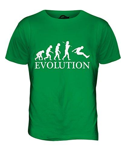 CandyMix Weitsprung Evolution Des Menschen Herren T Shirt Grün