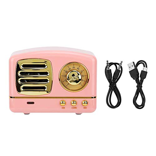 Fdit wiederaufladbare tragbare Mini Retro BT4.1 Radio Lautsprecher Kit für AUX USB TF MP3-Telefon Musik Player MEHRWEG VERPACKUNG