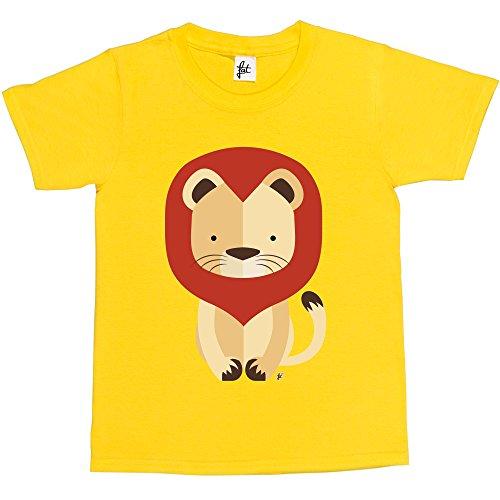 fancy-a-snuggle-t-shirt-collo-a-u-maniche-corte-ragazzo-giallo-12-anni