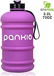 PANKIO Water Jug 2.2L Big Water Bottle 73OZ Half Gallon Sports Water Bottle Big Capacity Leakproof Container B