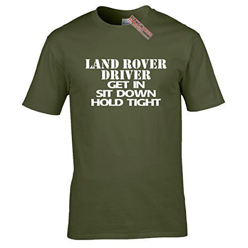 Naughtees kleidung - Landrover fahrer T-shirt Olivgrün