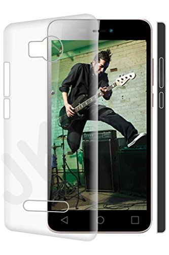 ZYNK CASE HARD BACK COVER FOR MICROMAX CANVAS SPARK 3 Q385-TRANSPARENT