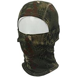 Mascara facial - SODIAL(R) 1PC Mascara de cara completa de pasamontanas de ciclo de motocicleta de camuflaje de ejercito verde