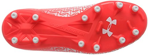 Under Armour Ua Cf Force 3.0 Fg Jr, Scarpe da Calcio Unisex – Bambini Red (Neon Coral 611)