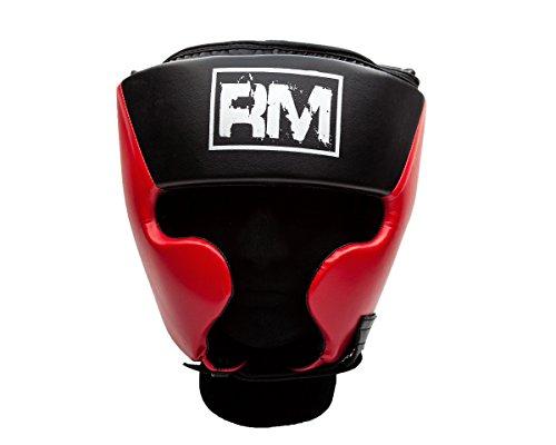 ringmaster-uk-head-guard-headgear-boxing-mma-martial-arts-protector-kick-red-black-small-medium