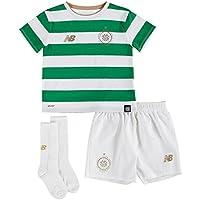 New Balance Celtic FC 17/18 Home Mini Kids Football Kit - White/Green