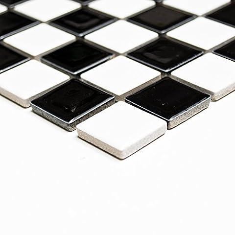 Tiles mosaic tile Ceramic Square Chessboard Black White 6mm New # 219