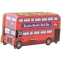 Toyvian Cajas de almacenamiento de escritorio DIY Bus en forma para los efectos de escritorio cosméticos regalos de juguetes