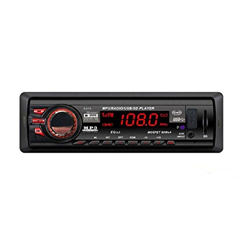 Malloom®Auto Bluetooth Audio Estéreo Jugador In-Dash Reproductor Mp3/ USB / SD / AUX / FM Input AUX Receptor (8268)