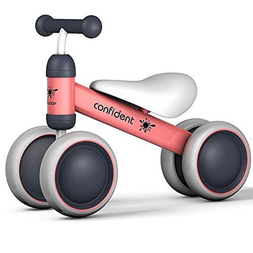 JHUEN Bicicletas Equilibrio 3 AñOs NiñA, Sin Pedales Bicicleta Bebé Caminante Juguetes Paseos Por 18 Meses-36 Meses Primera Bicicleta Del Bebé Primer CumpleañOs Regalo Rosado