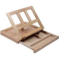 Caballete de mesa, de la marca Costway, con mesa para dibujar y forma de caja Push and Pull Easel Natural Wood