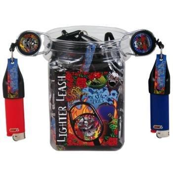 Premium Lighter Leash Retractable Lighter Holder-death/skull Series 1/6/30 (#289) (1) by Lighter Leash