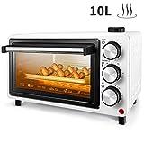 Mini forno FREIHAFEN 10L con funzione vapore e pratico vassoio raccogli briciole, Forno per pizza, timer, vassoio raccogli briciole, mini forno, forno, piccolo forno