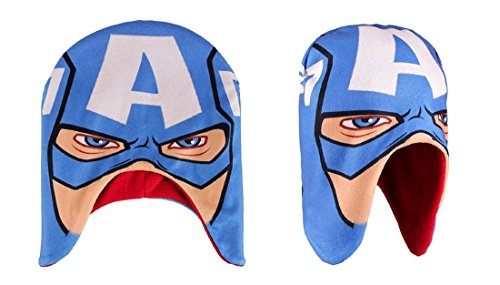 Flauschige Captian America Mütze Kindermütze Wintermütze Avengers (Captian Hat)