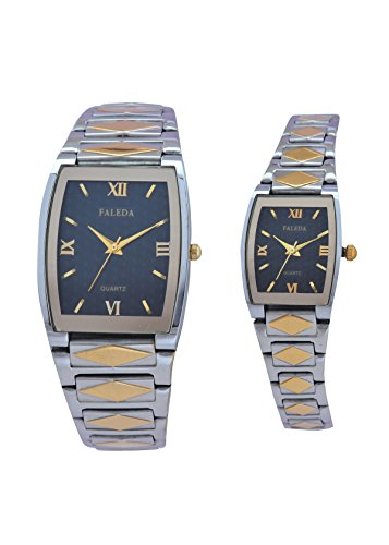 Faleda 6159PTTB Standred Analog Watch For Couple