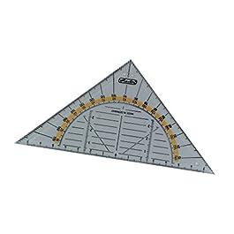 Herlitz, triangolo geometrico in plastica trasparente, piccolo, disponibile anche in set