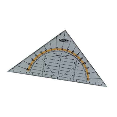 Herlitz Geometrie-Dreieck aus transparenter Kunststoff, klein