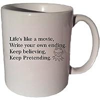 Life's Like A Movie Kermit The Frog Muppet quote 11 oz coffee tea mug Funny 11 Oz Coffee Tea Mug by VM Reigns
