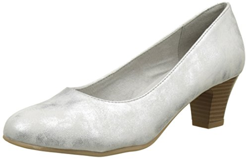 Softline Damen 22463 Pumps Weiß (WHITE/SILVER 191)