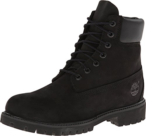 Timberland 6 In Premium Waterproof (wide fit), Men's Boots, Black (Black Nubuck), 9.5 UK (44 EU)
