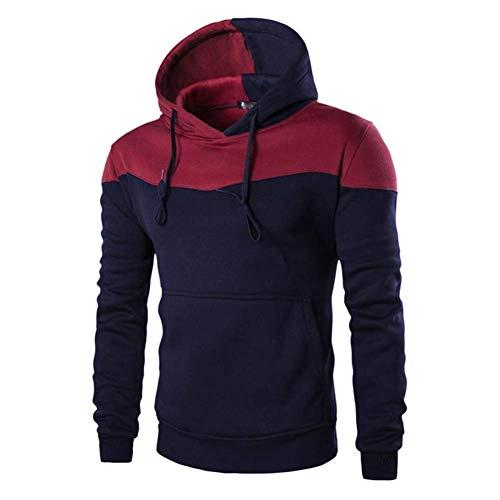 557547346a Irinay Herren Kapuzenpullover Tarnung Lange Jacke Casual Chic Pullover Mode  Männer Stitching Nner Taschen Outwear Sweatshirt M XXXL (Color : Navy Blau,  ...