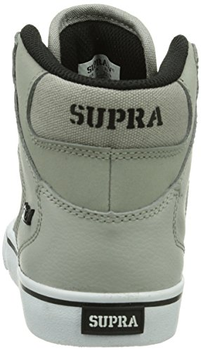 Supra Vaider, Baskets mode mixte enfant Gris (Grey/Black-White Gbw)