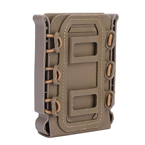 Tbest Pistol Mag Pouch Molle Airsoft Magazintasche Carrier Pistol Magazine Holder 5.56mm / 7.62mm Tactical Mag Carrier für den Außenbereich 4 Farben(Khaki) -