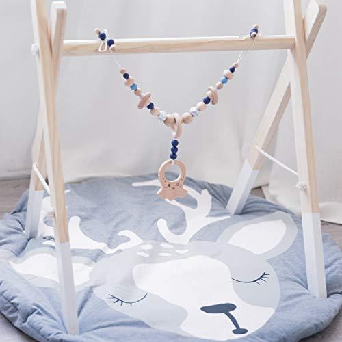Mamimami Home 1pc Singring Baby Arch Kinderwagen Krippe Aktivität Octopus Toy Kinderwagen Aktivität mit Quietschhalter Kinderkrankheiten Cart Chain Sensory Toys (Kinderwagen Arch)