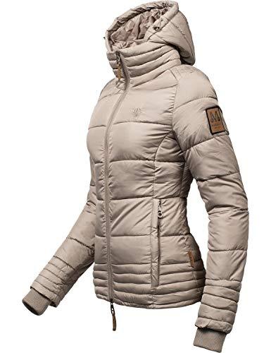 Marikoo Damen Winterjacke Stepp-Jacke Sole Taupe Gr. XL